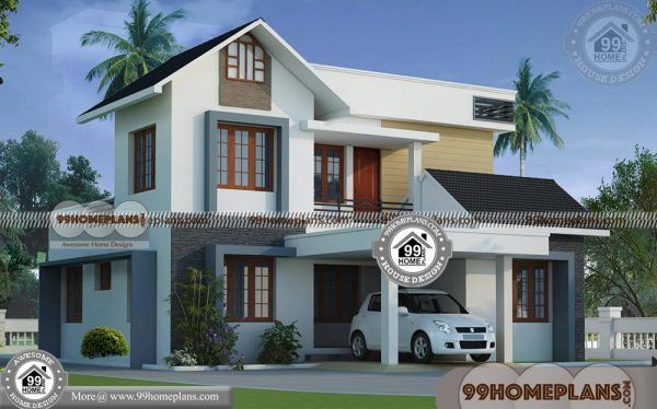 Kerala Homes Plans 60 Two Storey House Designs For Small Blocks Kerala House Design Small Contemporary House Plans House Arch Design