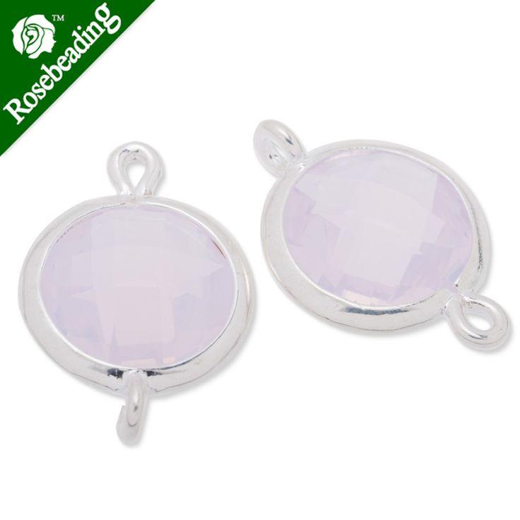 11.5 х 17.5 мм со стеклом с окантовкой, металла со стеклом с окантовкой, Граненый, розовая вода опала, разъемы, камень рамка, Продано 5 шт./lot-C3669