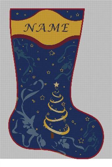 Personalized Needlepoint Christmas Stocking Canvas   NeedlePaint