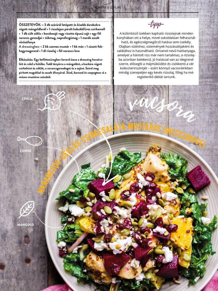 Narancsos-céklás csirkesaláta #salata #csirke #narancs #cekla #recept #tescomagyarorszag