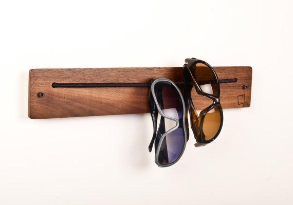 Safety glasses storage rack.