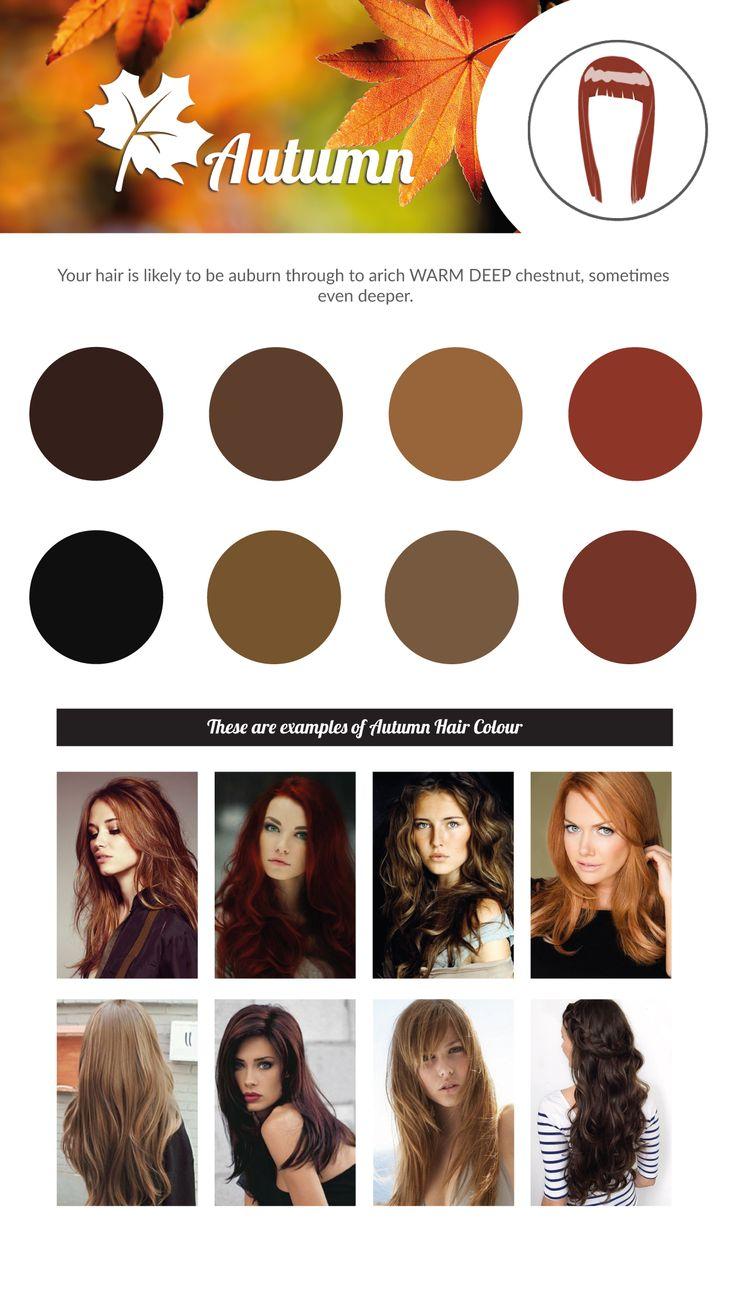 AUTUMN Hair Colour Chart.