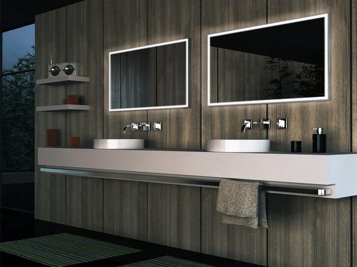 éclairage salle de bains moderne- miroirs lumineux à LED en forme rectangulaire