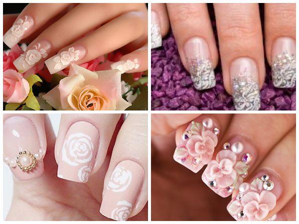 https://www.facebook.com/leovandesign  #naildesignideasforwedding #nails #nailpolish #wedding #design #manicure #pedicure