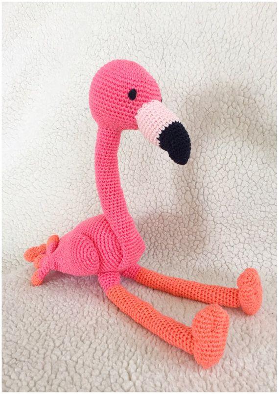 Flamingo häkeln Muster Amigurumi häkeln Tutorial von Alinies