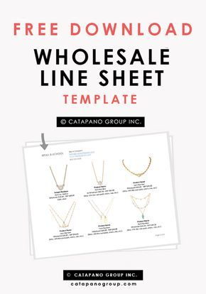 [Free Template Download] Wholesale Line Sheet Template | Free Line Sheet | Fashion Selling Tips. | Retail B-School. Easy to edit wholesale line sheet template for Microsoft Word (or Pages for Mac).