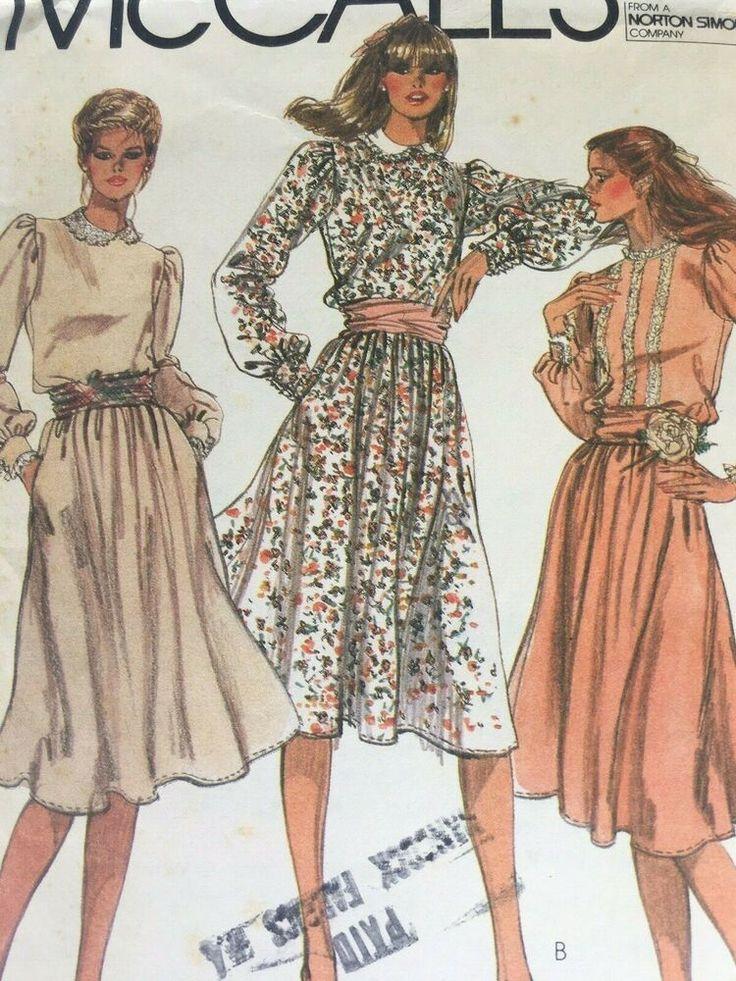 mccalls 7407 sewing pattern womens dress size 10 bust 32 5 ebay