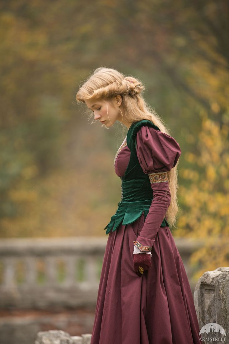"""""""Princess in Exile"""" velvet bodice. Available in: blue natural velvet, bottle green natural velvet, burgundy natural velvet, black natural velvet :: by medieval store ArmStreet"""