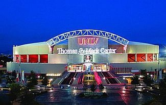 Thomas & Mack Center, Las Vegas, NV, frequent home of the Mountain West conference tournament and the Professional Bull Riding Finals