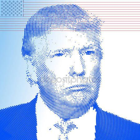 Stati Uniti - novembre 2016 - Donald Trump, candidato alla presidenza degli Stati Uniti damerica — Vettoriali Stock © frizio #129876084