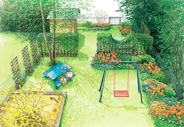 Ein Reihenhausgarten im neuen Gewand Reihenhausgarten, Schöne