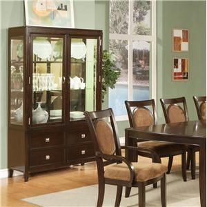 3985 Montblanc Clic Curio Cabinet Becker Furniture World China Twin Cities Minneapolis