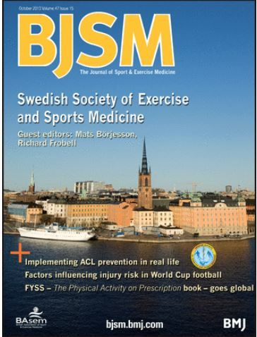 BJSM Volume 47 Issue 15 | October 2013 ~ Swedish Society of Exercise and Sports Medicine