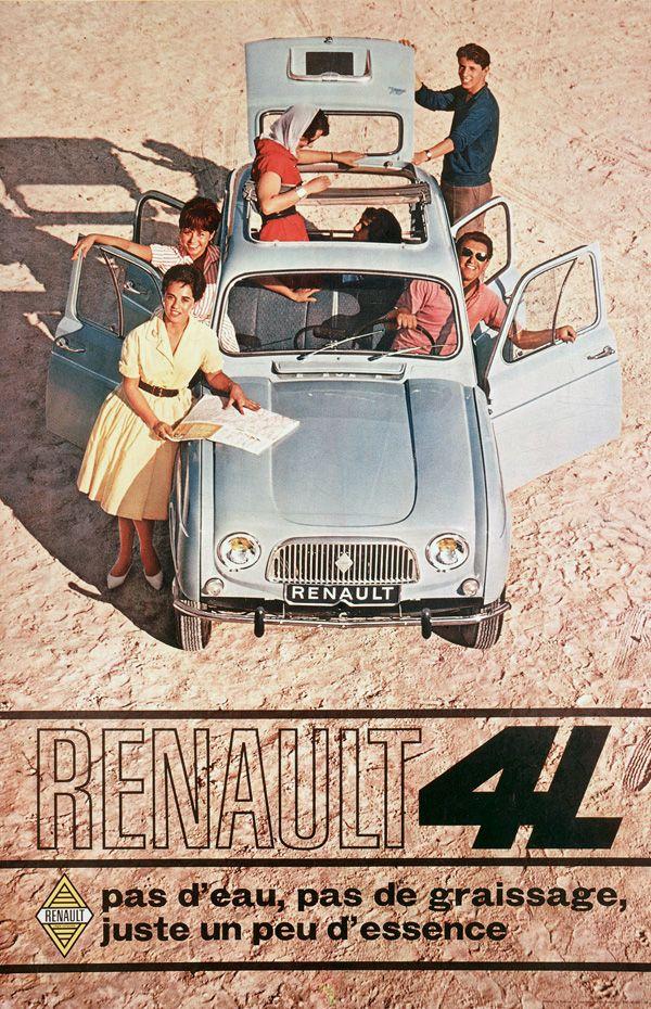 30 ans de publicités sur les Renault 4