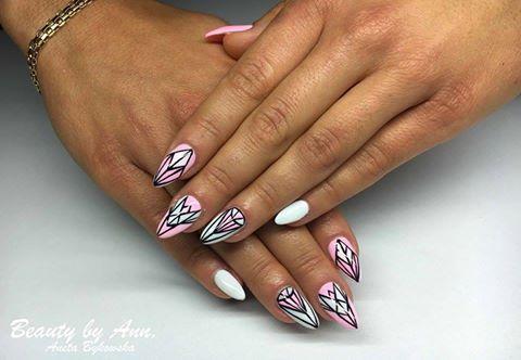 Maybe Baby Gel Brush + Mr.White + Paint Gel by Aneta Bykowska #nails #nail #indigo #white #pastel #aztec #summer #pink