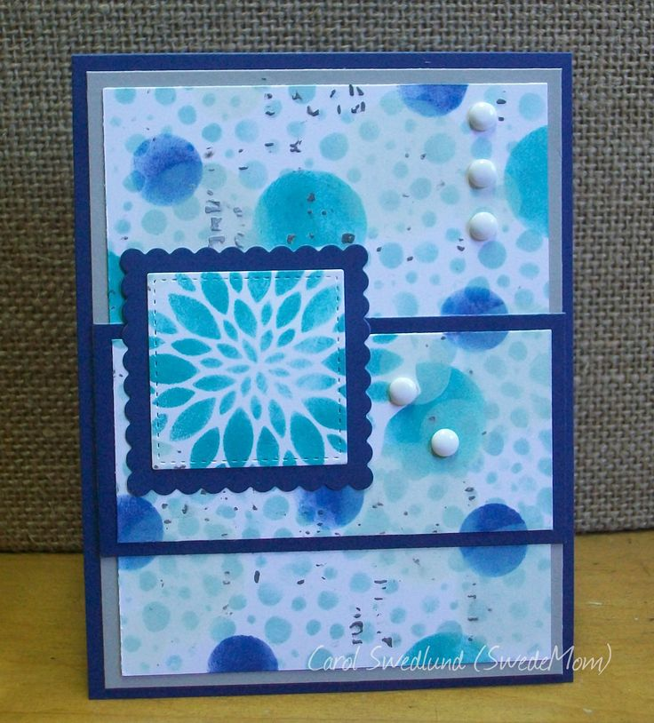 Bokeh & Triple Time meet CTMH color dare & SS Stencil It! It's a rare card for me, with no stamping on the outside (I will put a sentiment inside). I used all the colors in colormyheartcolordare.blogspot.com #249 except cashmere since the blues & gray looked better together. It's the first bokeh card I've done with so much white in the background but IRL you can see the white daisy pigment circles on top of the lagoon, sapphire & glacier circles.  TFL!