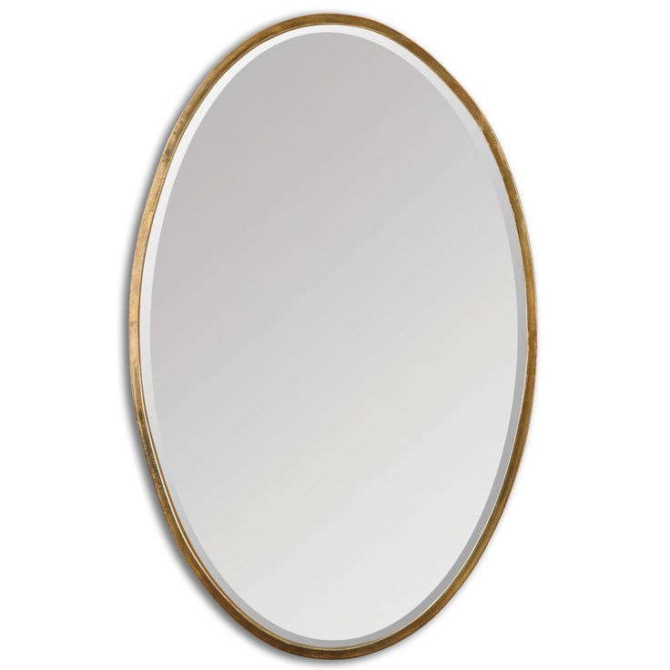 Herleva Gold Oval Mirror | Overstock.com Shopping - The Best Deals on Mirrors