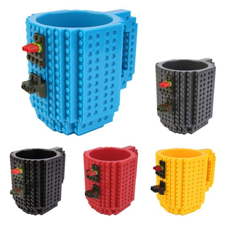Aliexpress.com: Comprar 2015 DIY creativo construir en ladrillo taza estilo Lego rompecabezas bloques de construcción taza botella de agua Frozen taza navidad juguete de regalo de la taza de diseñador de juguetes fiable proveedores en Health and Beauty Shopping Mall