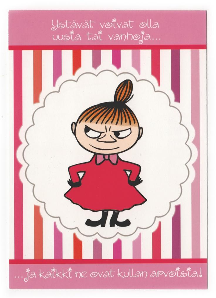 Tove Jansson - Little My card via Kiosk Mamymuminka (Moomin PL)
