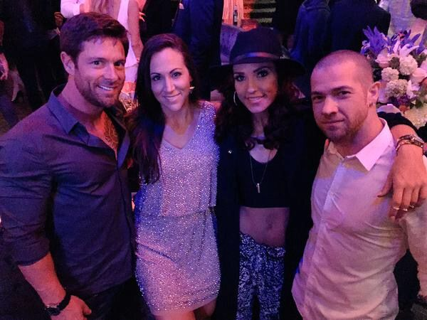 Noah Galloway, Jamie Boyd, Sharna Burgess & Paul Kirkland at the DWTS 10th Anniversary Party