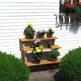 Blumentreppe Kiefer Massiv