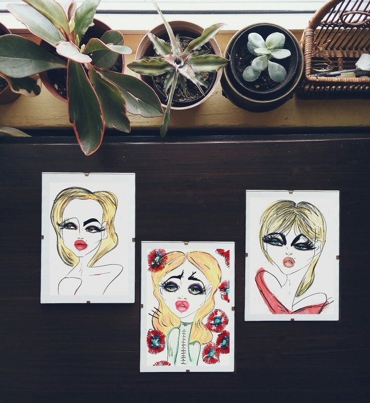 Three blonde girls #art