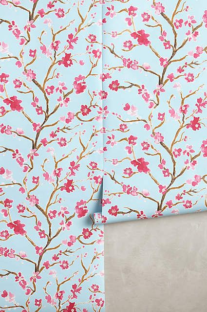 Cherry Blossom Wallpaper - anthropologie.com