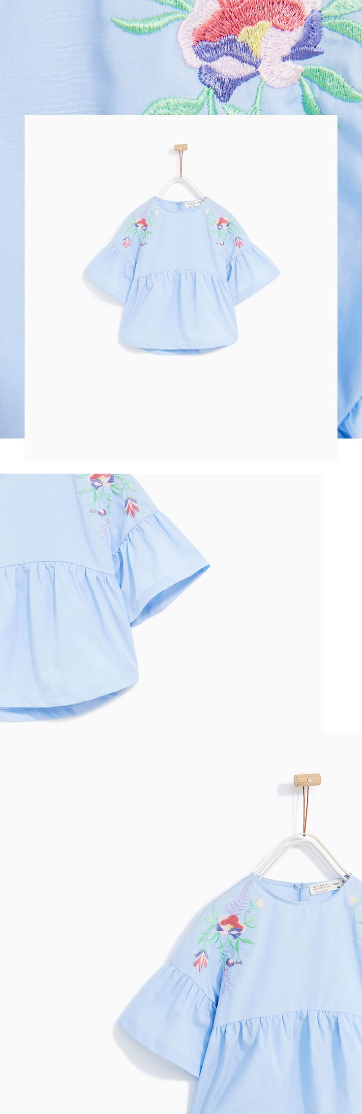 ZARA KIDS | Embroidered blouse, Soft Collection, S17 on Behance