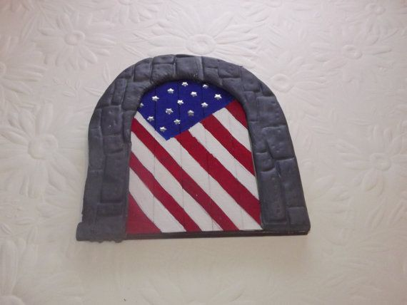 Hey, I found this really awesome Etsy listing at https://www.etsy.com/uk/listing/255379213/fairy-door-american-flag-stars-and