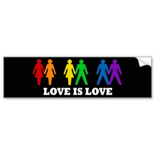 Love is love bumper stickers