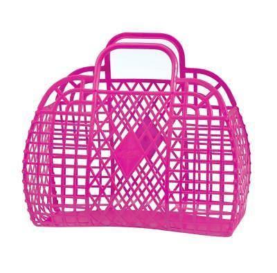 Panier en plastique rose