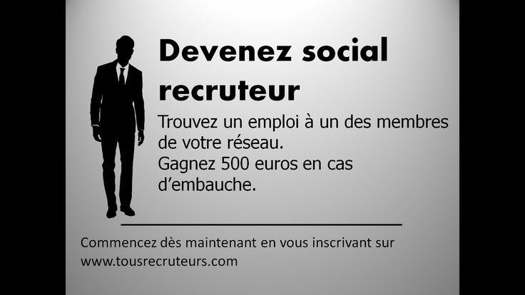 TousRecruteurs: un service #simple, #rapide et #lucratif! http://www.tousrecruteurs.com/  #cooptation #emploi #Recrutement #tousrecruteurs