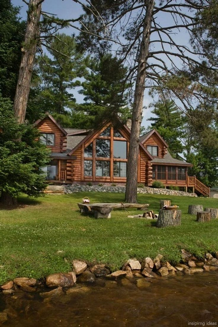89 rustic log cabin homes design ideas – – #Genel