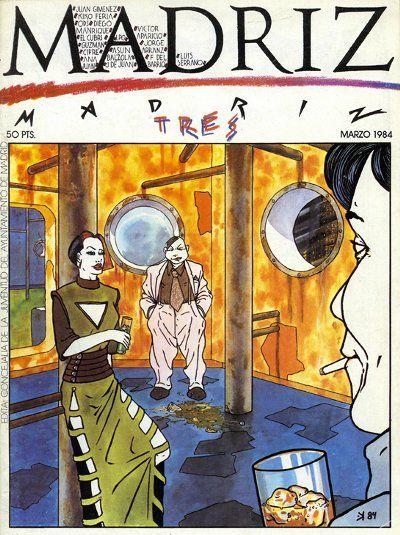 Portada de la revista Madriz, dibujo de Kiko Feria. | Punk ...