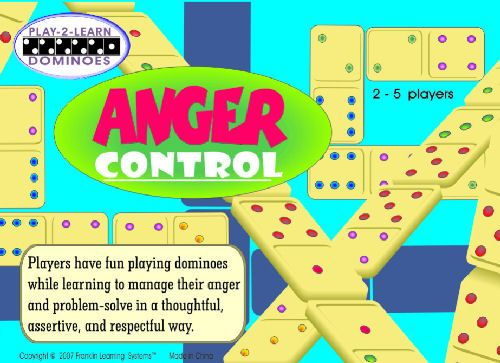 Make learning about anger control fun by combining it with the game of dominoes     Children draw a card and practice a skill before playing a domino     Appropriate for children in grades 1-5, 2-5 players