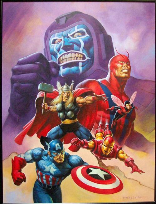 The Avengers vs Kang the Conqueror by Horley.
