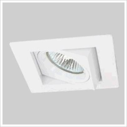 30 Degree Square Gimble Recessed Downlight in Brushed Chrome Prolux $13
