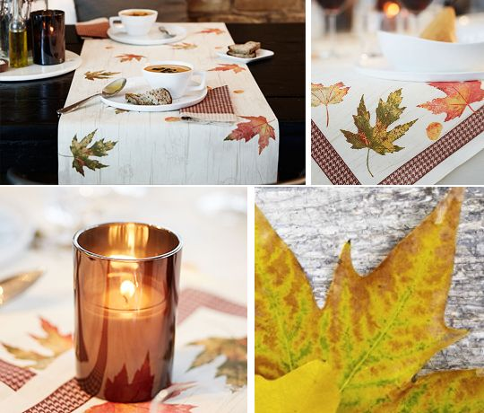 Warm tones from Duni for the autumn table