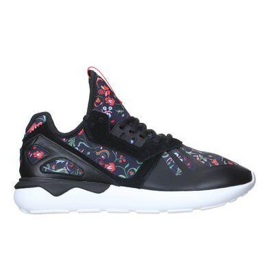 Baskets imprimées fleurs Tubular Noir Adidas Originals pour femme prix promo Baskets Adidas Monshowroom 110.00 €