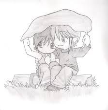 Imagenes de dibujos a lapiz de parejas