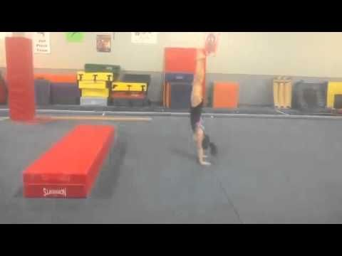 Levering drills for handstands and dismounts on beam - YouTube