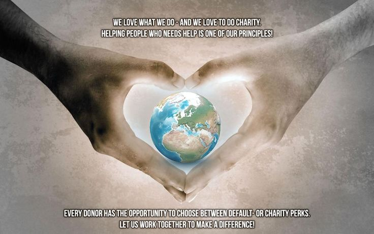 We love what we do - and we love to do #charity. Let us work together to make a difference!