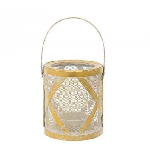 METALLIC LANTERN IN GOLDEN_WHITE D18X21_35