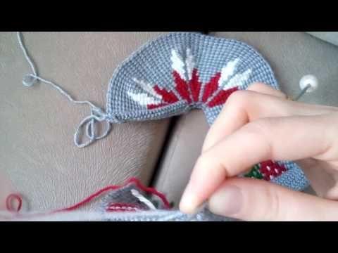 Çiçekli Tunus İşi Patik Modeli(Örgü Modeli) - YouTube