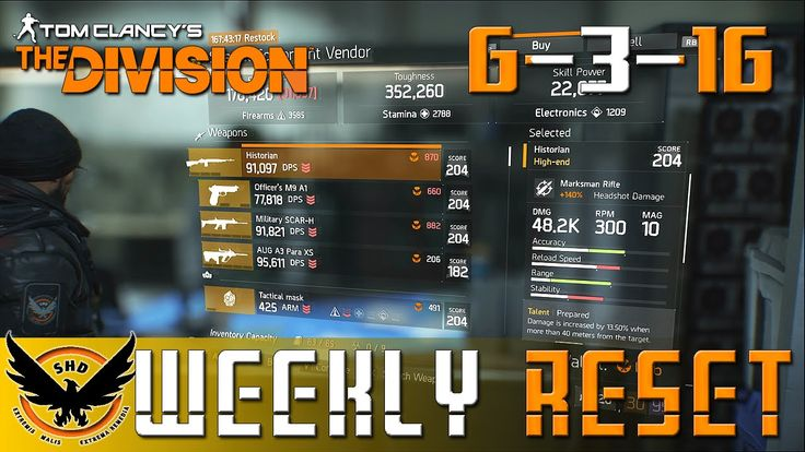 """The Division: NEW """"Weekly Reset'' First Wave Vector 45 ACP - [6-3-16] """"A..."""