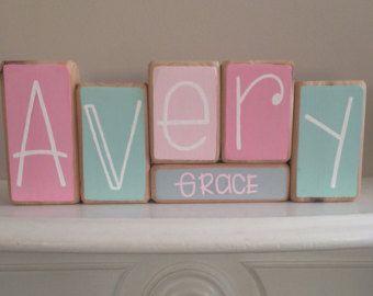 Best 25 custom baby gifts ideas on pinterest baby girl shower custom baby name baby blocks nursery baby shower gift negle Choice Image