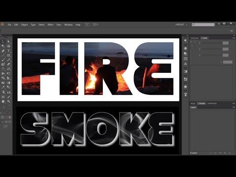 How to Fill a Shape/Text with a Photo in Adobe Illustrator - YouTube
