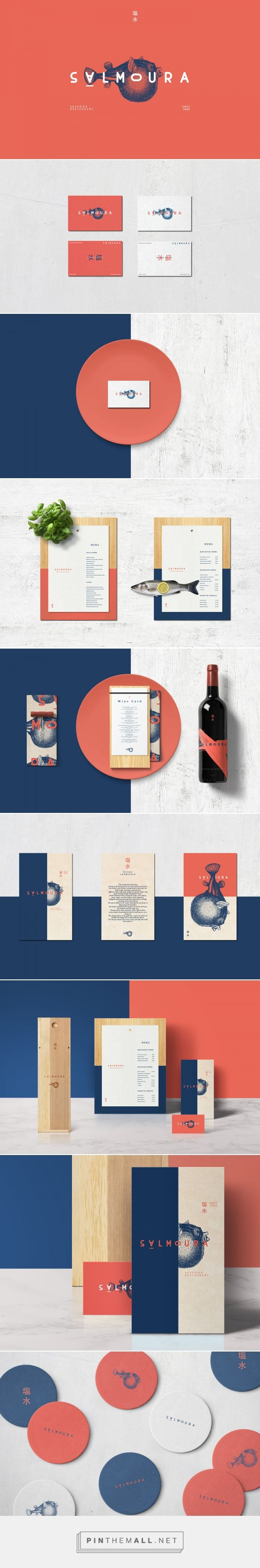 Salmoura Seafood Restaurant Branding and Menu Design by Manoela Silva | Fivestar Branding Agency – Design and Branding Agency & Curated Inspiration Gallery