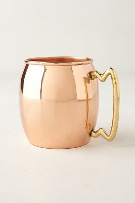 Very cool copper Moscow mule mug via @Anthroplogie - equally at home in a chic urban or country #home #decor #design