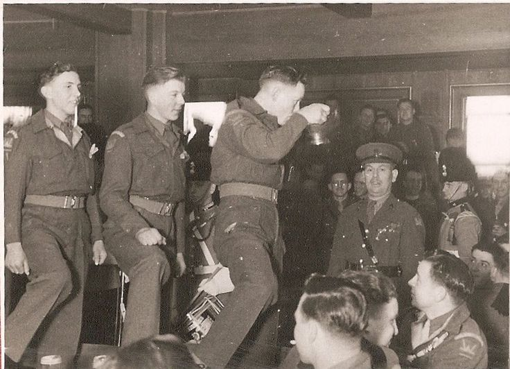 St David's Day, Tenglemans Factory, West Germany 1946.  6 RWF, 53rd (Welsh) Division.
